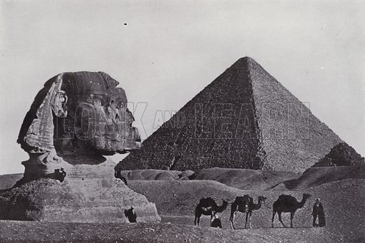 The Great Pyramid of Cheops and the Sphynx. Illustration for Souvenir of Egypt (George Ch Dovas, 1898).