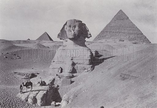 Sphynx and Second Pyramid. Illustration for Souvenir of Egypt (George Ch Dovas, 1898).