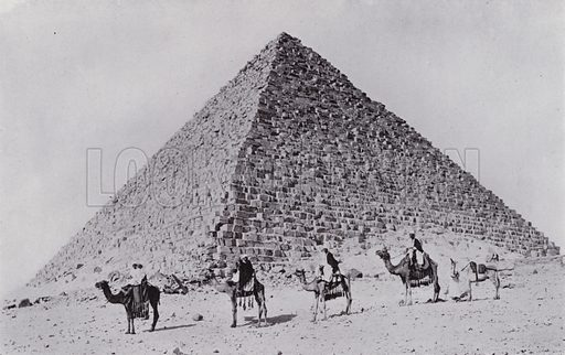 The Third Pyramid. Illustration for Souvenir of Egypt (George Ch Dovas, 1898).