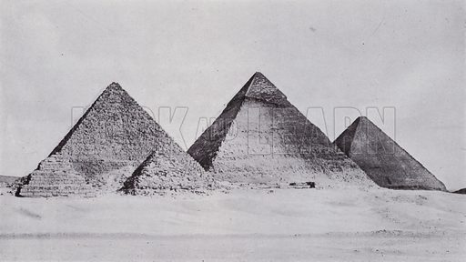 Pyramids of Gizeh. Illustration for Souvenir of Egypt (George Ch Dovas, 1898).