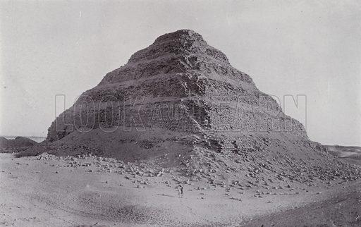 The Step Pyramid at Sakkara. Illustration for Souvenir of Egypt (George Ch Dovas, 1898).