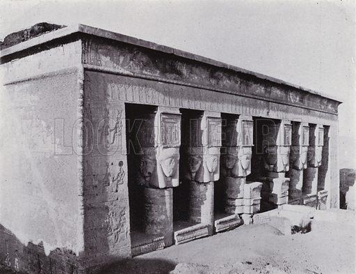 Hathor's Temple at Denderah. Illustration for Souvenir of Egypt (George Ch Dovas, 1898).