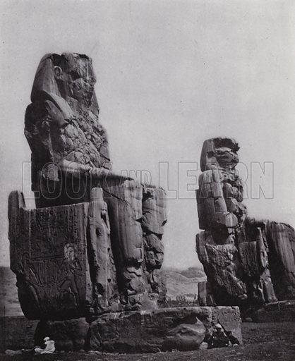 The Colossi of Memnon. Illustration for Souvenir of Egypt (George Ch Dovas, 1898).