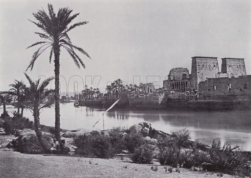 The Island of Philae. Illustration for Souvenir of Egypt (George Ch Dovas, 1898).