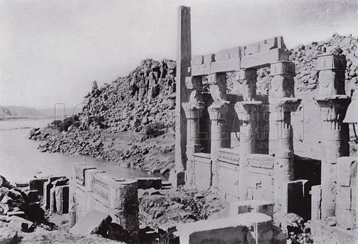 Nectanebus' Building on the Island of Philae. Illustration for Souvenir of Egypt (George Ch Dovas, 1898).