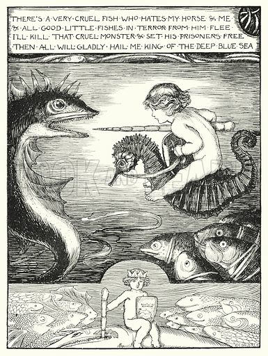 Waterbaby's song. Illustration for Sunday Reading for the Young, 1902 (Wells Gardner Darton).