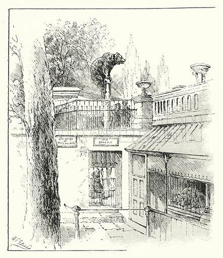 """The bears' den."" Illustration for Sunday Reading for the Young, 1902 (Wells Gardner Darton)."