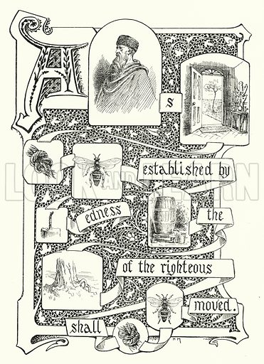 Picture proverb wanting words. Illustration for Sunday Reading for the Young, 1902 (Wells Gardner Darton).