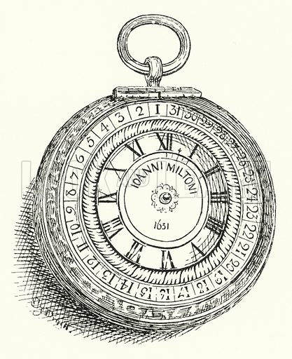 Milton's watch. Illustration for Sunday Reading for the Young, 1902 (Wells Gardner Darton).