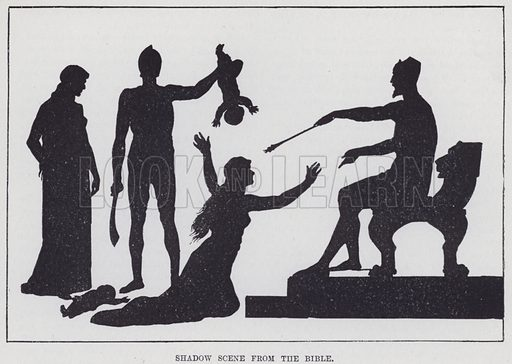 Shadow scene from the Bible. Illustration for Sunday Reading for the Young, 1905 (Wells Gardner Darton).
