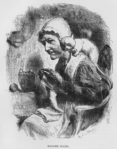 Madame Boche. Illustration for The Assommoir, A Realistic Novel, by Emile Zola (Vizetelly, 1885).