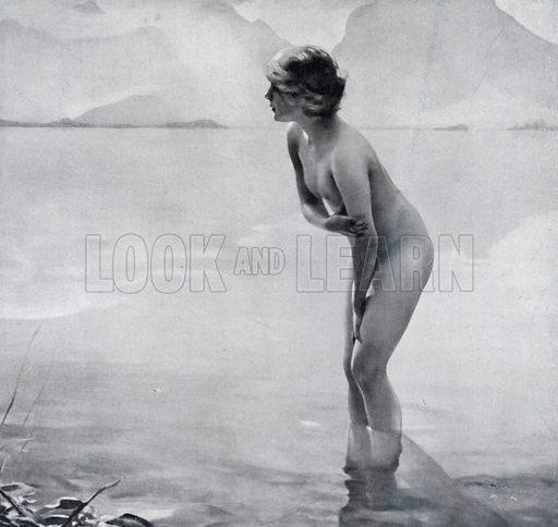 Matinee de septembre. Illustration for La Beaute De La Femme Dans L'Art by Boyer D'Agen (I Lapina, c 1910).