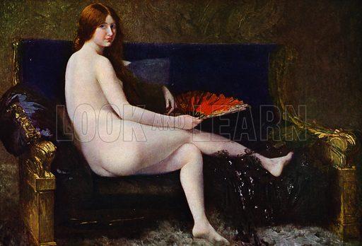 Nu. Illustration for La Beaute De La Femme Dans L'Art by Boyer D'Agen (I Lapina, c 1910).
