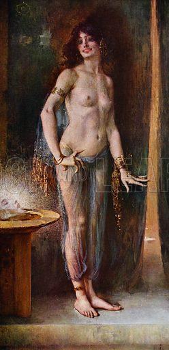 Danseuse mime de Naxos. Illustration for La Beaute De La Femme Dans L'Art by Boyer D'Agen (I Lapina, c 1910).