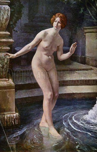 Suzanne. Illustration for La Beaute De La Femme Dans L'Art by Boyer D'Agen (I Lapina, c 1910).