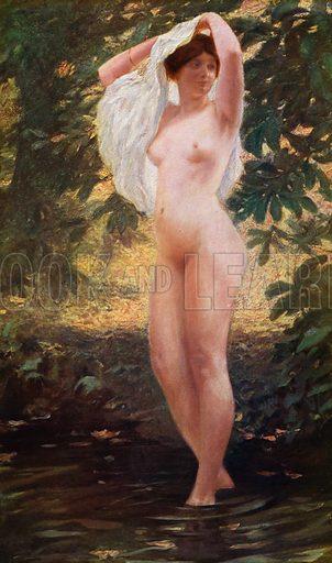 Heure chaude. Illustration for La Beaute De La Femme Dans L'Art by Boyer D'Agen (I Lapina, c 1910).