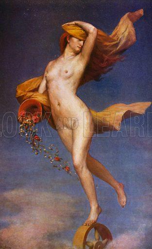 La Fortune. Illustration for La Beaute De La Femme Dans L'Art by Boyer D'Agen (I Lapina, c 1910).