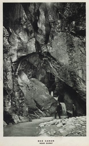 Box Canon, Near Ouray. Illustration for The Canons of Colorado with photographs by W H Jackson printed and bound in Denver (Frank S Thayer, c 1900).