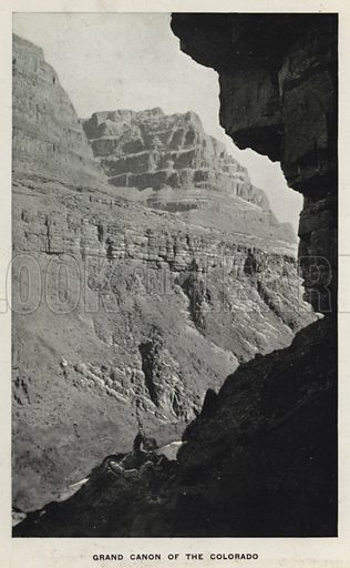 Grand Canon of the Colorado. Illustration for The Canons of Colorado with photographs by W H Jackson printed and bound in Denver (Frank S Thayer, c 1900).