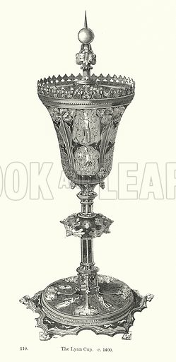 The Lynn Cup, c 1400. Illustration for The Characteristics of Styles, An Introduction to the Study of the History of Ornamental Art, by Ralph N Wornum (8th edn, Chapman and Hall, 1893).