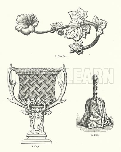 Ornament. Illustration for The Characteristics of Styles, An Introduction to the Study of the History of Ornamental Art, by Ralph N Wornum (8th edn, Chapman and Hall, 1893).