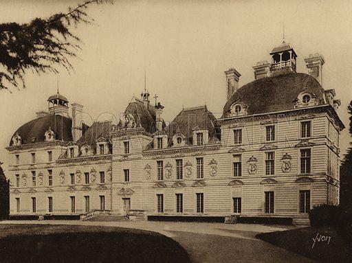 Chateau de Cheverny. Illustration for Les Chateaux de la Loire by Jean-M Schweitzer (Yvon, c 1910).  Gravure printed.