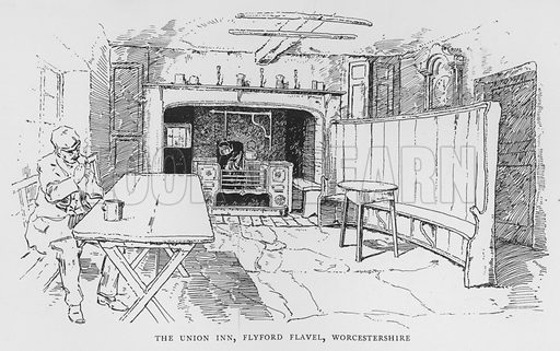 The Union Inn, Flyford Flavel, Worcestershire. Illustration for The Charm of the English Village by P H Ditchfield (Batsford, 1908).