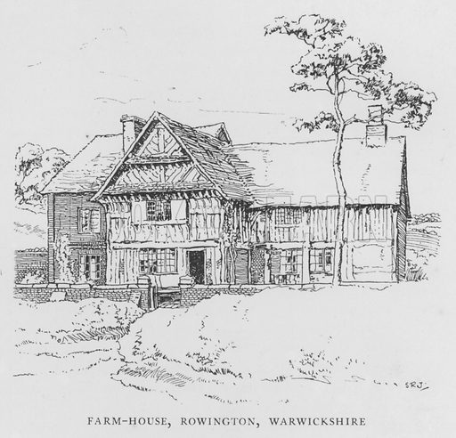 Farm-House, Rowington, Warwickshire. Illustration for The Charm of the English Village by P H Ditchfield (Batsford, 1908).