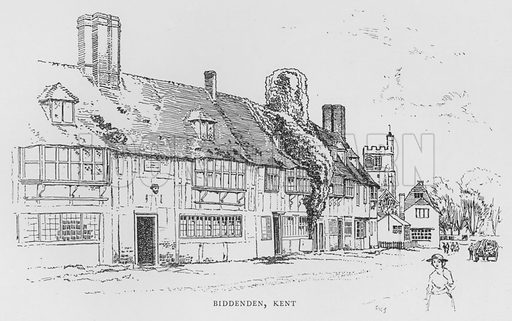 Biddenden, Kent. Illustration for The Charm of the English Village by P H Ditchfield (Batsford, 1908).