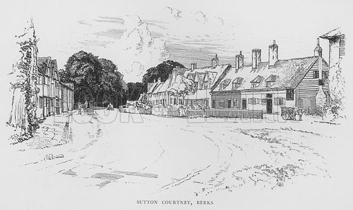 Sutton Courtney, Berkshire. Illustration for The Charm of the English Village by P H Ditchfield (Batsford, 1908).