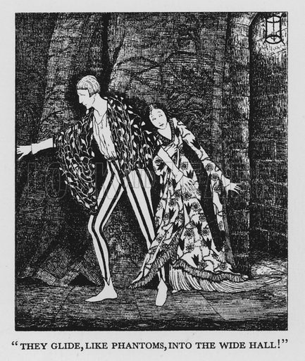 Illustration for The Eve of St Agnes by John Keats illustrated by E M Craig (John Lane The Bodley Head, 1928).