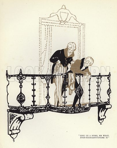 Illustration for The Happy Hypocrite by Max Beerbohm illustrated by George Sheringham (John Lane The Bodley Head, 1918).