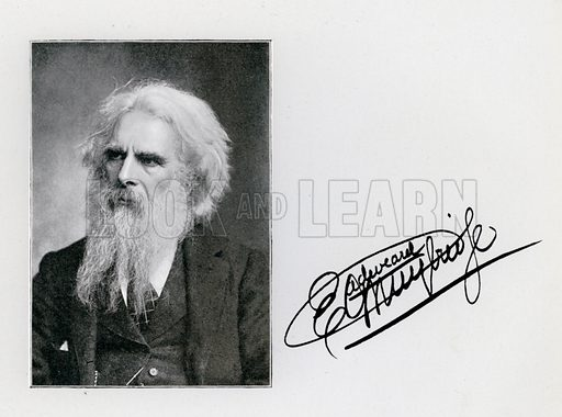 Eadweard Muybridge, portrait and signature. Illustration for The Human Figure in Motion, An Electro-Photographic Investigation of Consecutive Phases of Muscular Actions by Eadweard Muybridge (6th edn, Chapman and Hall, nd).