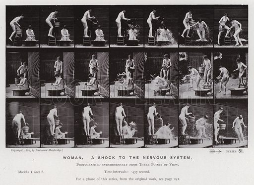 Woman, a shock to the nervous system. Illustration for The Human Figure in Motion, An Electro-Photographic Investigation of Consecutive Phases of Muscular Actions by Eadweard Muybridge (6th edn, Chapman and Hall, nd).