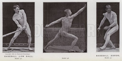 Baseball, low ball; Baseball, error. Illustration for The Human Figure in Motion, An Electro-Photographic Investigation of Consecutive Phases of Muscular Actions by Eadweard Muybridge (6th edn, Chapman and Hall, nd).
