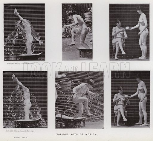 Various acts of motion. Illustration for The Human Figure in Motion, An Electro-Photographic Investigation of Consecutive Phases of Muscular Actions by Eadweard Muybridge (6th edn, Chapman and Hall, nd).