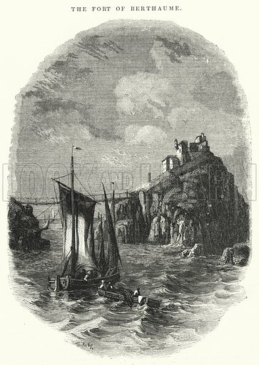 The Fort of Berthaume. Illustration for The Illustrated Exhibitor and Magazine of Art (John Cassell, 1852).