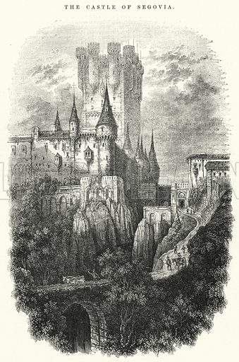 The Castle of Segovia. Illustration for The Illustrated Exhibitor and Magazine of Art (John Cassell, 1852).