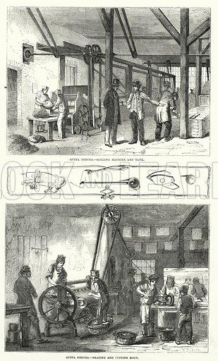 Gutta Percha. Illustration for The Illustrated Exhibitor and Magazine of Art (John Cassell, 1852).
