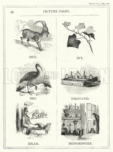 Picture Pages. Illustration for The Infant's Magazine (1868).