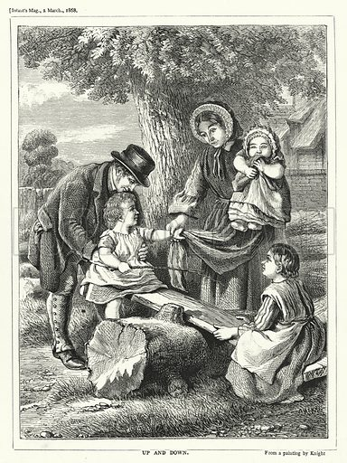 Up and Down. Illustration for The Infant's Magazine (1868).