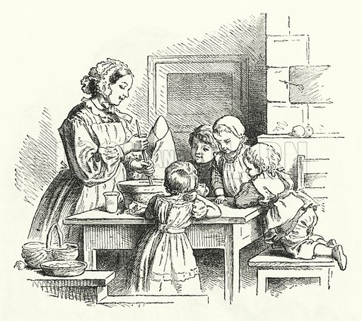 Christmas Pudding. Illustration for The Infant's Magazine (1869).