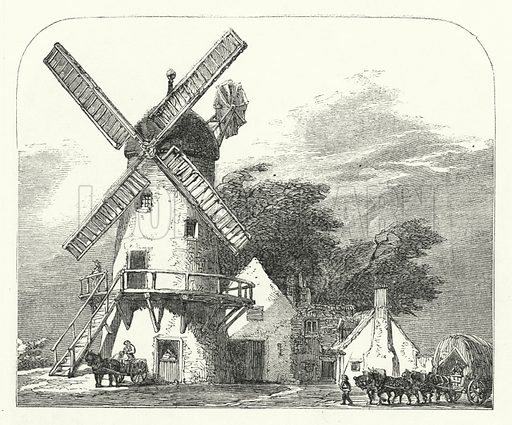 The Mill. Illustration for The Infant's Magazine (1869).