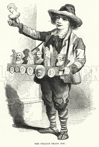 The Italian Image Boy. Illustration for The Infant