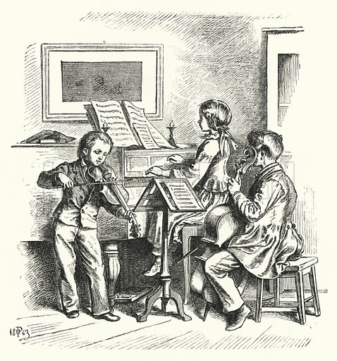 The Music Party. Illustration for The Infant