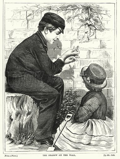 The Shadow on the Wall. Illustration for The Infant's Magazine (1871).