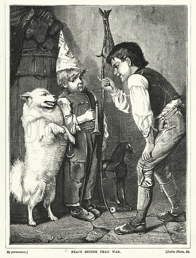 Peace Better than War. Illustration for The Infant's Magazine (1871).