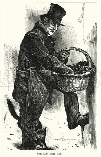 The Cats'-Meat Man. Illustration for The Infant's Magazine (1876).