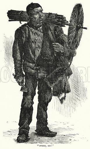 Chimney Sweep. Illustration for The Infant's Magazine (1876).