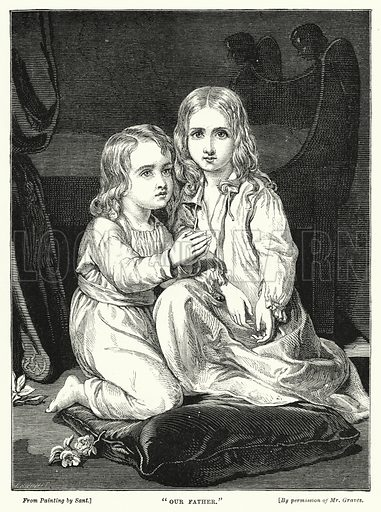 """""""Our father."""" Illustration for The Infant's Magazine (1876)."""